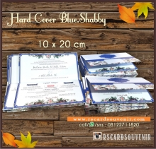 Undangan hard cover blue shabby