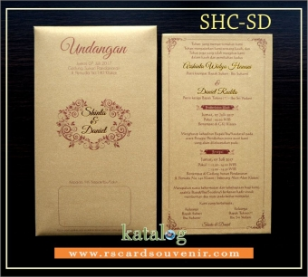 Undangan single hard cover jasmin emas SHC-SD