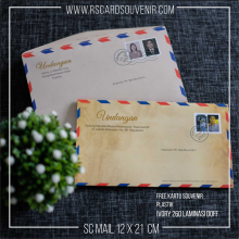 Undangan soft cover airmail